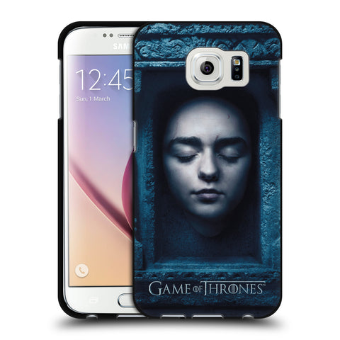 Official HBO Game of Thrones Faces 2 Black Soft Gel Case for Samsung Galaxy S6