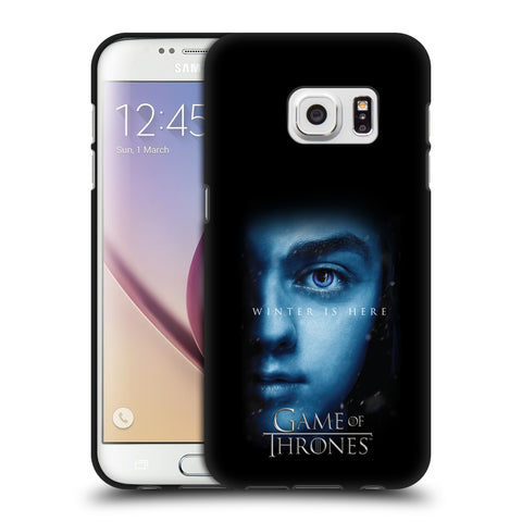 Official HBO Game of Thrones Winter Is Here Black Soft Gel Case for Samsung Galaxy S7