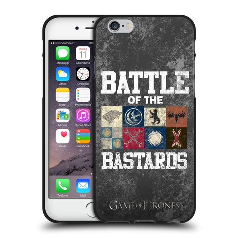 Official HBO Game of Thrones Battle Of The Bastards Black Soft Gel Case for Apple iPhone 6 6S
