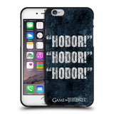 Official HBO Game of Thrones Hodor Black Soft Gel Case for Apple iPhone 6 6S