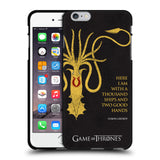 Official HBO Game of Thrones Graphics Black Soft Gel Case for Apple iPhone 6 Plus / 6S Plus