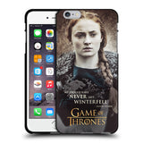 Official HBO Game of Thrones Character Quotes Black Soft Gel Case for Apple iPhone 6 Plus / 6S Plus