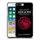 Official HBO Game of Thrones Graphics Black Soft Gel Case for Apple iPhone 7 Plus / 8 Plus