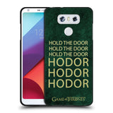 Official HBO Game of Thrones Hodor Black Soft Gel Case for LG G6
