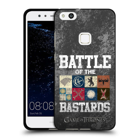 Official HBO Game of Thrones Battle Of The Bastards Black Soft Gel Case for Huawei P10 Lite