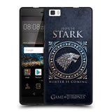 Official HBO Game of Thrones Metallic Sigils Black Soft Gel Case for Huawei P8LITE