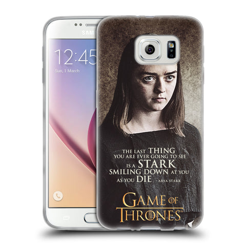Official HBO Game of Thrones Character Quotes Soft Gel Case for Samsung Galaxy S6