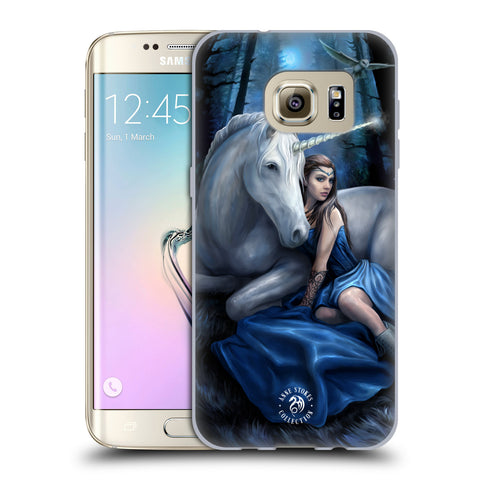 Official Anne Stokes Unicorns Soft Gel Case for Samsung Galaxy S7 Edge