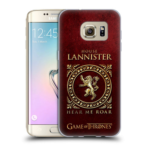 Official HBO Game of Thrones Metallic Sigils Soft Gel Case for Samsung Galaxy S7 Edge