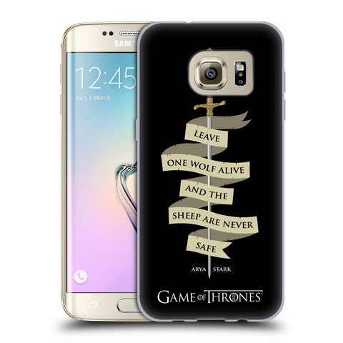Official HBO Game of Thrones Graphics Soft Gel Case for Samsung Galaxy S7 Edge