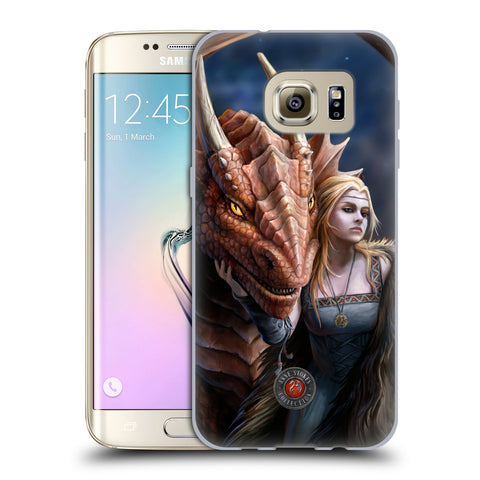 Official Anne Stokes Dragon Friendship 2 Soft Gel Case for Samsung Galaxy S7 Edge