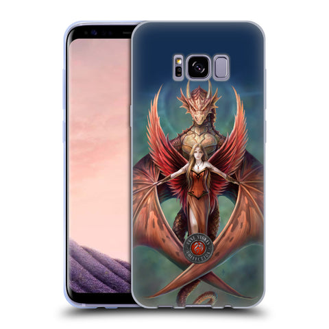 Official Anne Stokes Dragon Friendship Soft Gel Case for Samsung Galaxy S8+ S8 Plus