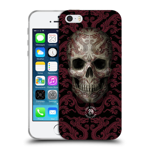 Official Anne Stokes Oriental Skull Soft Gel Case for Apple iPhone 5 5S SE