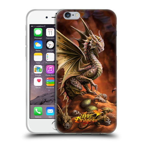 Official Anne Stokes Age Of Dragons Soft Gel Case for Apple iPhone 6 6S