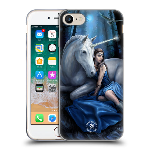 Official Anne Stokes Unicorns Soft Gel Case for Apple iPhone 7 / iPhone 8