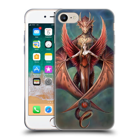 Official Anne Stokes Dragon Friendship Soft Gel Case for Apple iPhone 7 / iPhone 8