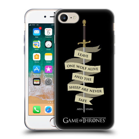 Official HBO Game of Thrones Graphics Soft Gel Case for Apple iPhone 7 / iPhone 8