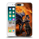 Official Anne Stokes Dragon Friendship 2 Soft Gel Case for Apple iPhone 7 Plus / 8 Plus
