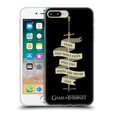 Official HBO Game of Thrones Graphics Soft Gel Case for Apple iPhone 7 Plus / 8 Plus