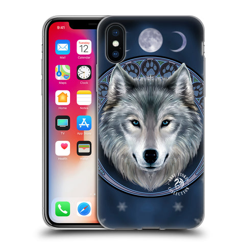 Official Anne Stokes Wolves Soft Gel Case for Apple iPhone X / iPhone XS