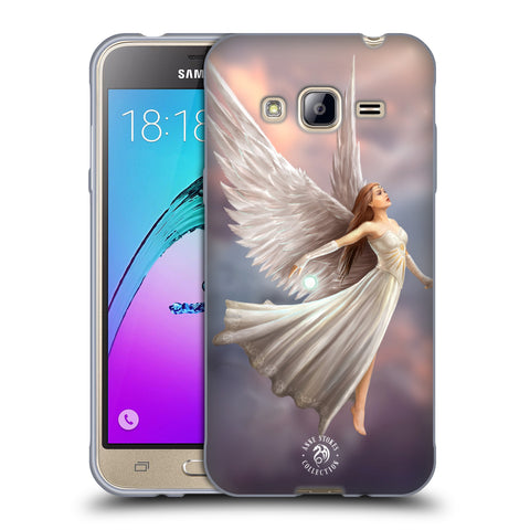 Official Anne Stokes Mermaid And Angels Soft Gel Case for Samsung Galaxy J3