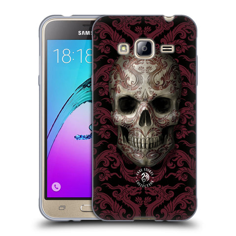 Official Anne Stokes Oriental Skull Soft Gel Case for Samsung Galaxy J3