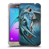 Official Anne Stokes Dragon Friendship Soft Gel Case for Samsung Galaxy J3