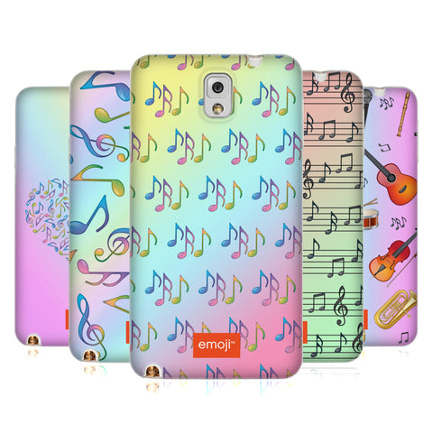 Official emoji® Music Patterns Soft Gel Case for Samsung Galaxy J3 (2017)