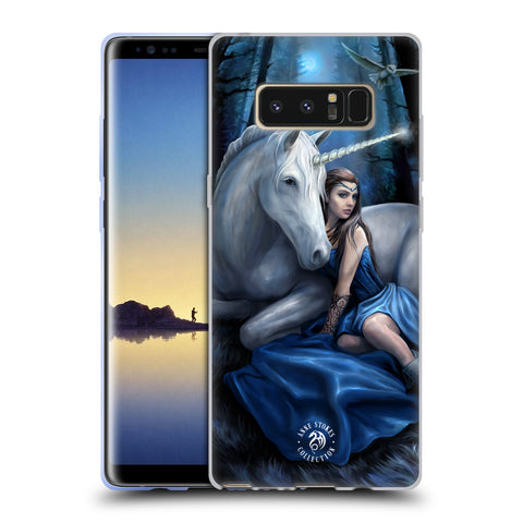 Official Anne Stokes Unicorns Soft Gel Case for Samsung Galaxy Note8