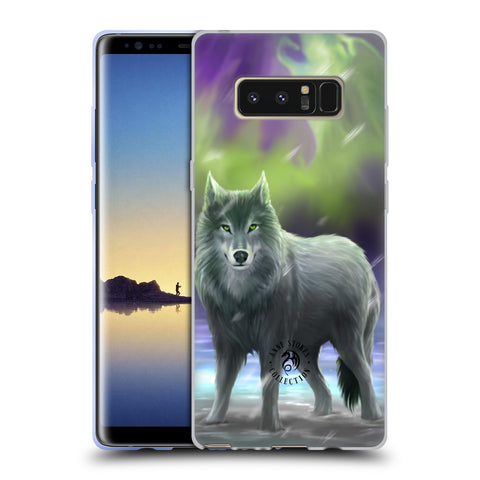 Official Anne Stokes Wolves Soft Gel Case for Samsung Galaxy Note8