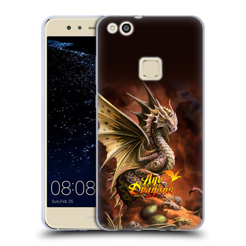 Official Anne Stokes Age Of Dragons Soft Gel Case for Huawei P10 Lite