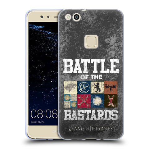 Official HBO Game of Thrones Battle Of The Bastards Soft Gel Case for Huawei P10 Lite