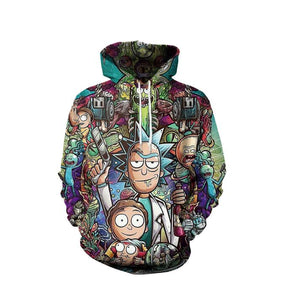 Rick and Morty 3D Unisex Hoodie