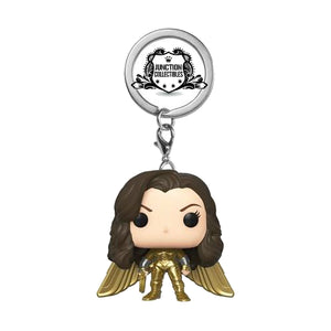 Funko Pocket Pop! Wonder Woman 1984 Gold Power (No Helmet) Vinyl Keychain