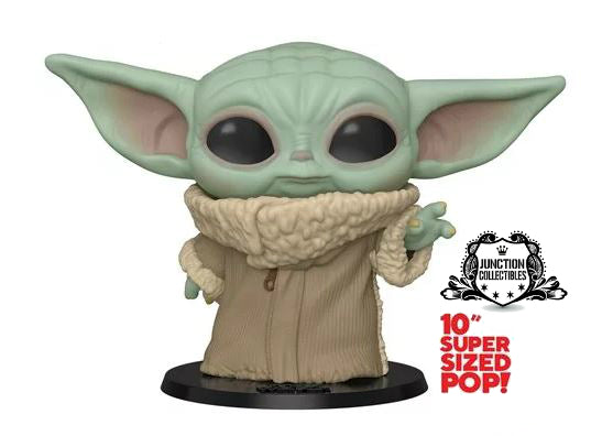 Funko Pop! The Mandalorian Baby Yoda 10-inch Vinyl Figure