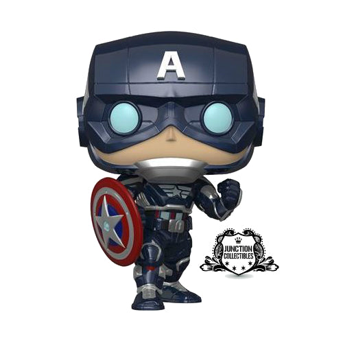 Funko Pop! Avengers Game Captain America (Stark Tech Suit) Vinyl Figure