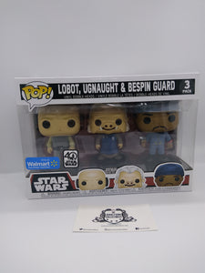 Funko Pop! - Star Wars Cloud City 3-Pack Lobot, Ugnaught, Bespin Vinyl Figures