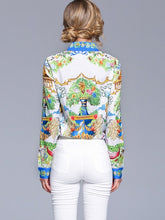Load image into Gallery viewer, Graphic Print Blouse