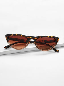 Leopard Frame Cat Eye Sunglasses