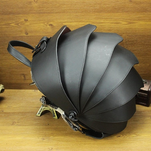 Crossbody Beetle Bag Leather Backpack