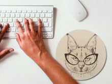 Load image into Gallery viewer, Cat Hipster Mousemat
