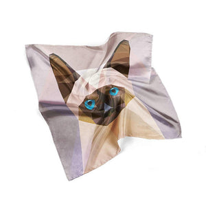 Cat Silk Scarf