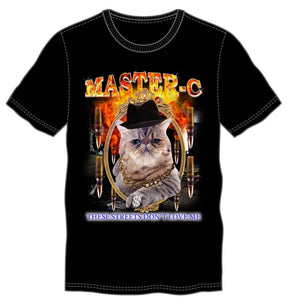Master-C These Streets Don't Love Me Men's Black T-Shirt Tee Shirt - Rapping Cat