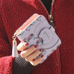 Fashion Women Wallets mini cute Cat Purse Short