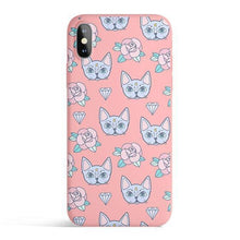 Load image into Gallery viewer, Luna Cat - Colored Candy Cases Matte TPU iPhone