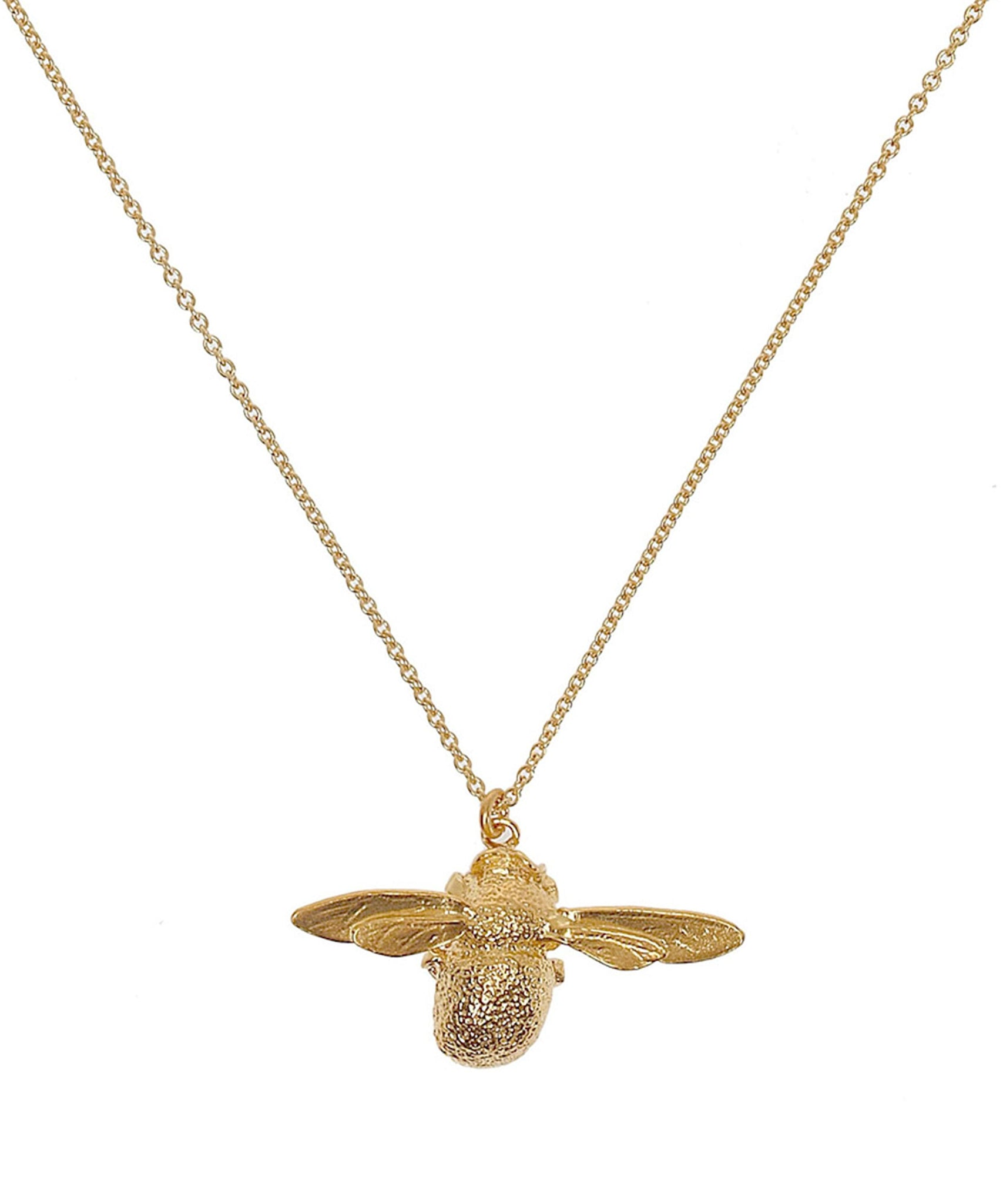 Alex Monroe Gold-Plated Bumblebee Necklace