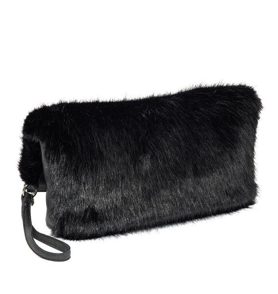 Christopher Raeburn Faux Fur Clutch Bag