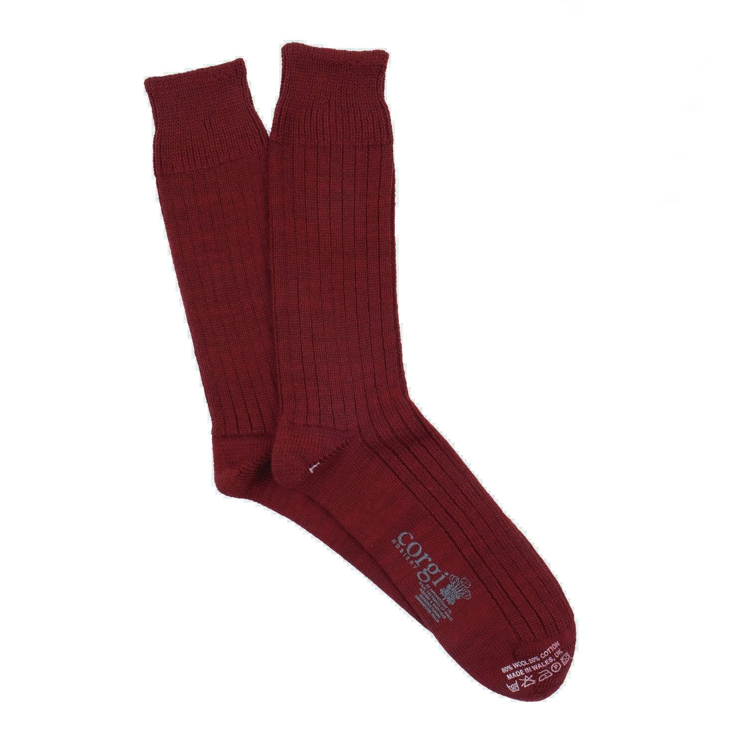 Corgi Men's Rib Wool & Cotton Socks