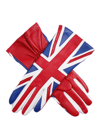 Dents Women Union Jack Leather Gloves