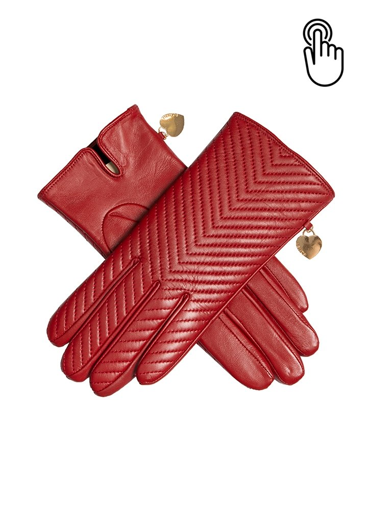 Dents Touchscreen Quilted Leather Gloves